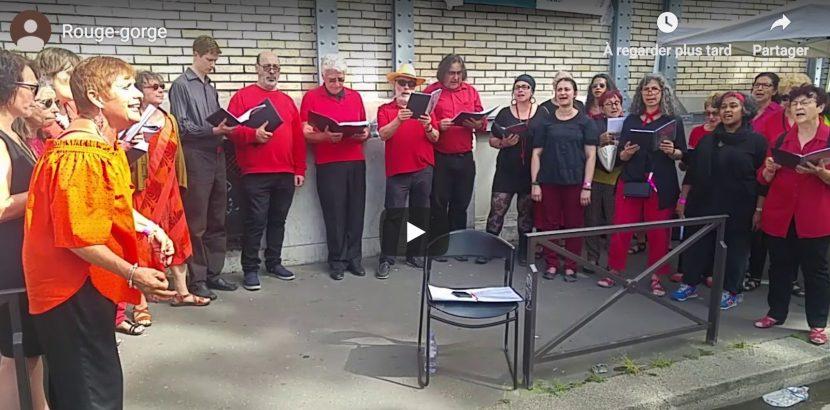 la chorale à Voix sur Berges