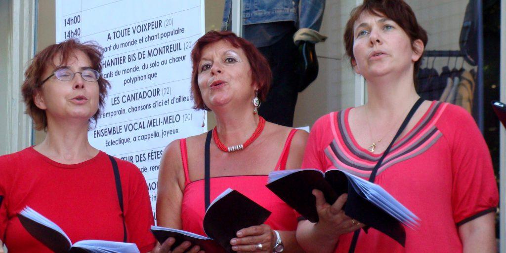 les mezzo-altos de L'Ut en Chœur à Voix sur Berges