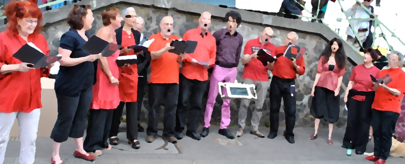 L'Ut en Chœur chante près du Canal Saint-Martin à Paris