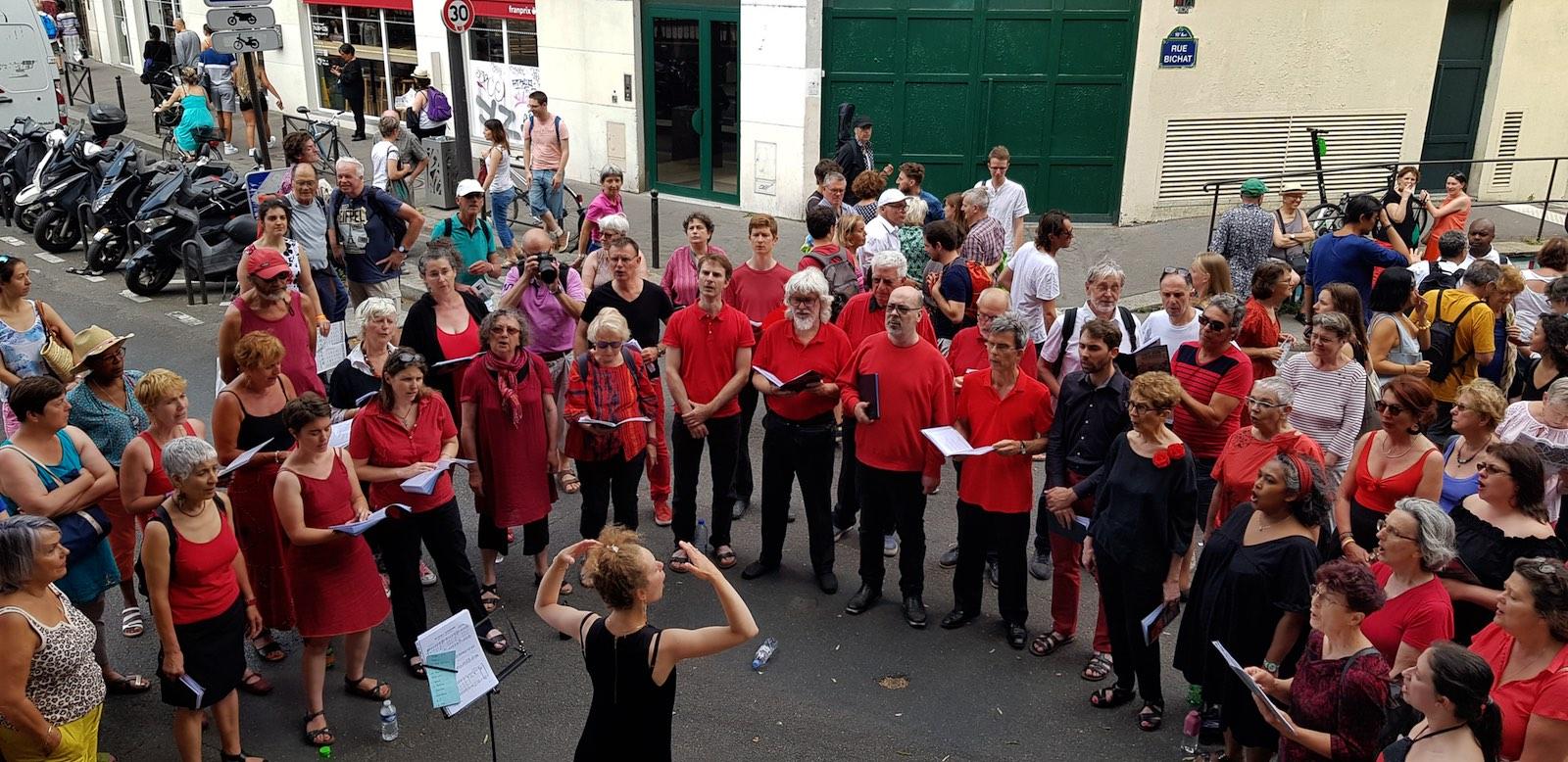 la chorale L'Ut en Choeur au festival Voix sur Berges 2019
