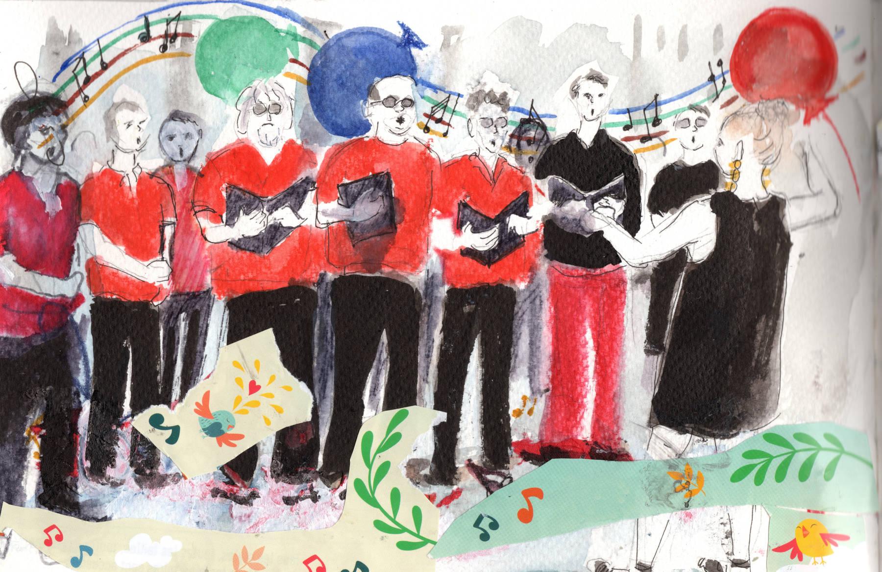 l'Ut en Chœur chante sur les bords du Canal Saint-Martin
