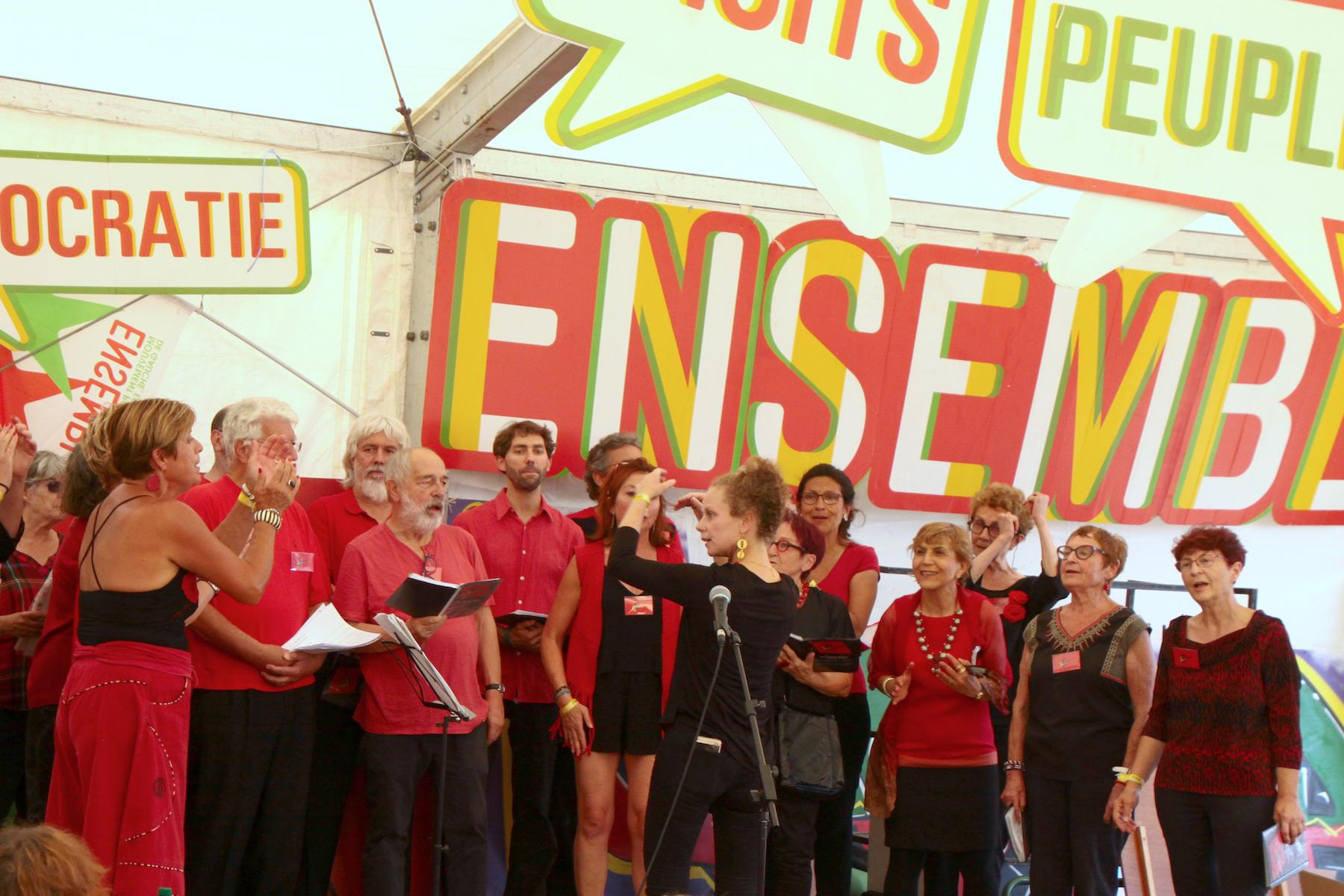 L'Ut en chœur chante à la fête de l'Huma