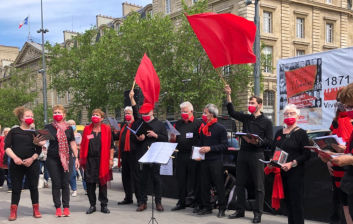 place de la République, L'Ut en Chœur chante la Commune de Paris